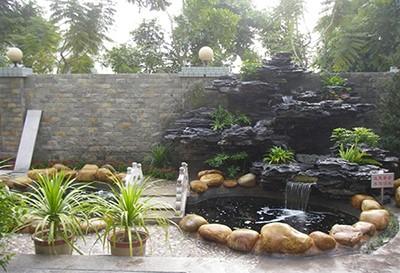 庭院假山图片
